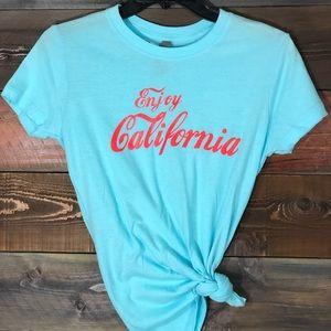 "Tops - Women's ""California"" Short Sleeved T; Sz M"